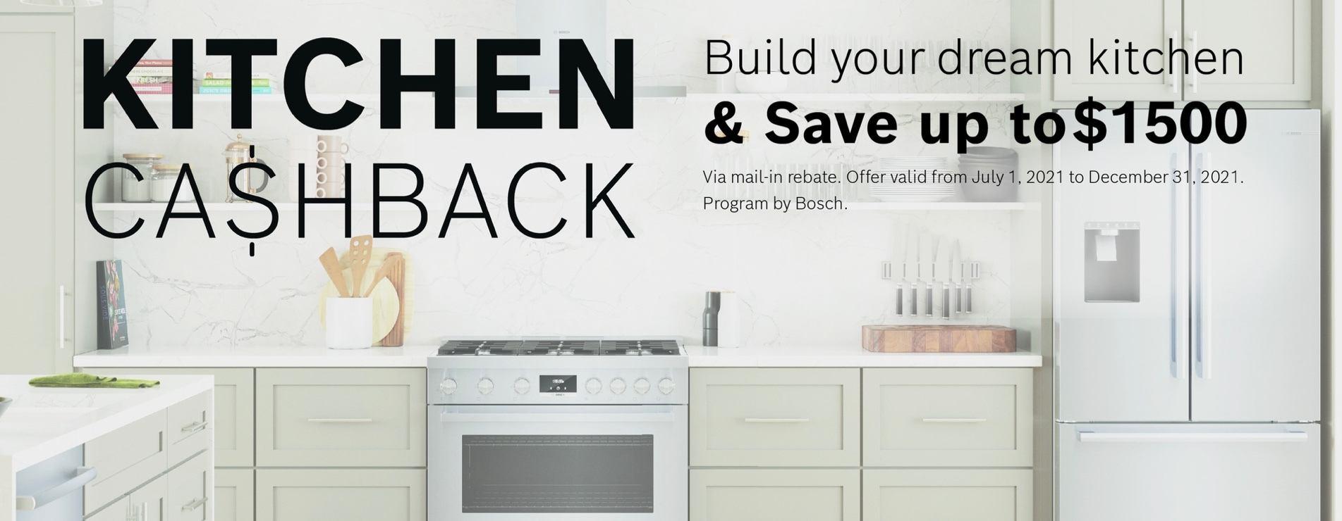 Bosch Kitchen Cashback