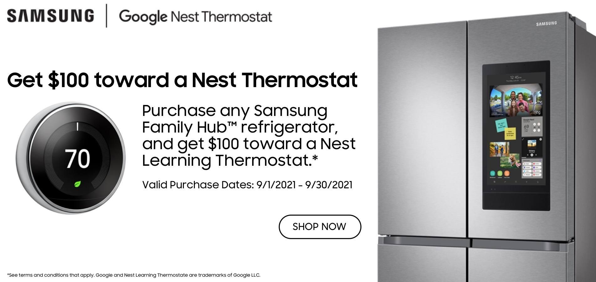 Samsung Hub & Google Nest Promo