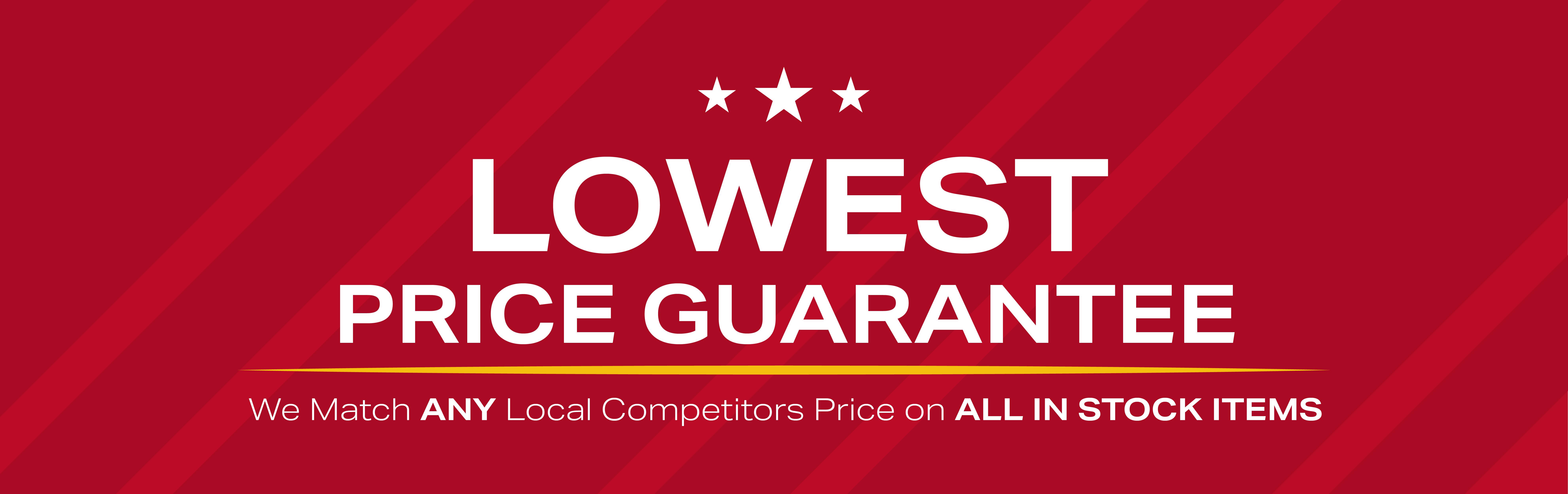 Lowest price gurantee