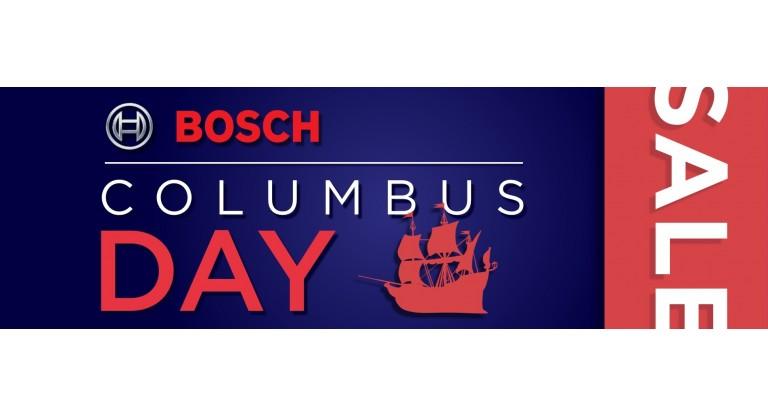 Bosch Columbus Day Promotion
