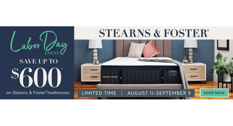 StearnsFoster Labor Day Sale