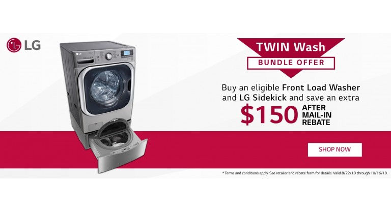 LG Twin Wash Bundle Wash