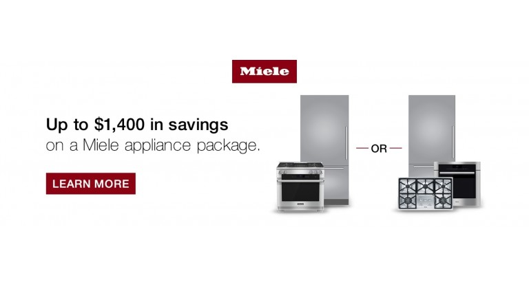 Miele: Up to $1,400 in savings