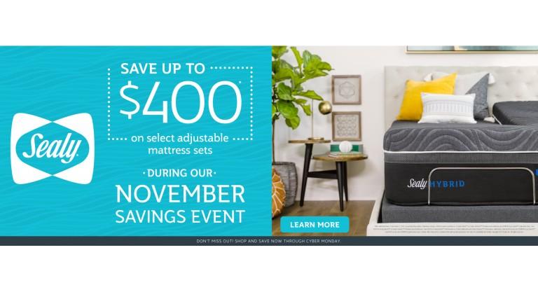 Sealy November Savings: Save Up to $400