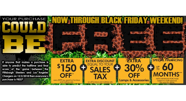 Black Friday Purchase could be FREE!
