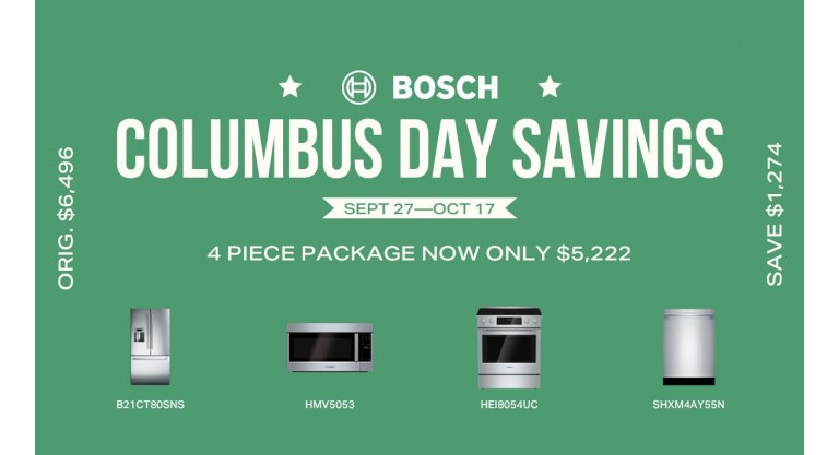 Bosch Columbus Day Savings