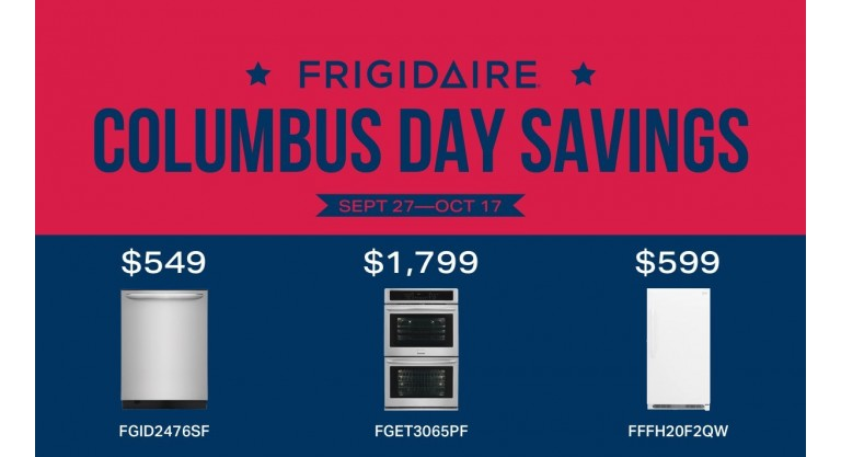 Frigidaire Columbus Day Savings