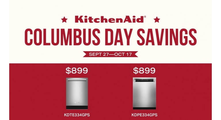 KitchenAid Columbus Day Savings