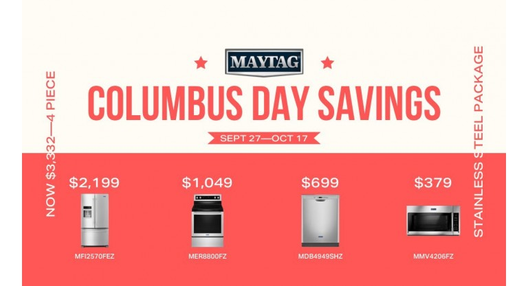 Maytag Columbus Day Savings