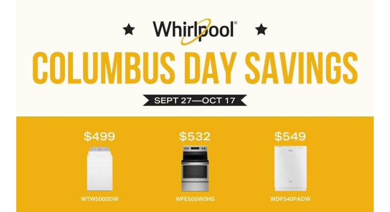 Whirlpool Columbus Day Savingsi