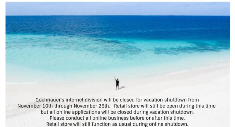 Vacation Shutdown