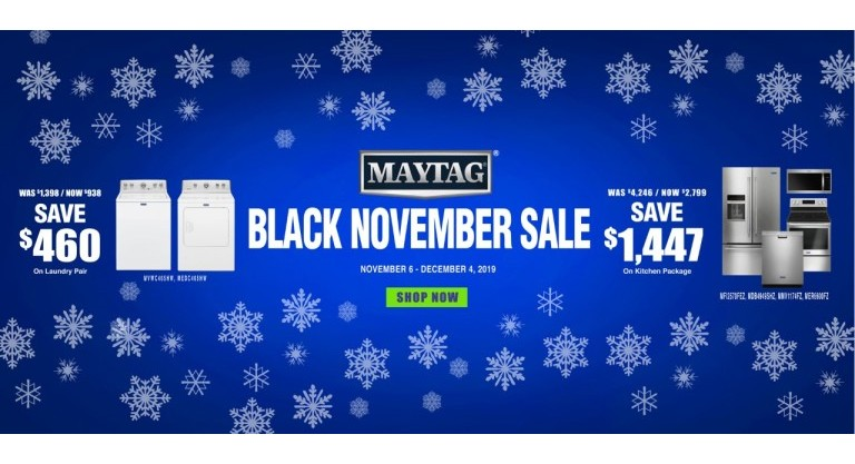 Maytag Black November Sale