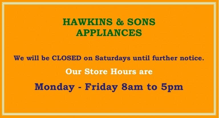 Closed Saturdays