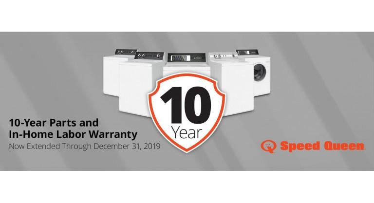 Speed Queen: 10-Year Parts and In-Home Labor Warranty