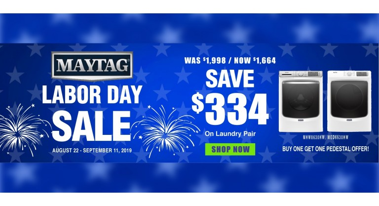 Maytag Labor Day Laundry Package