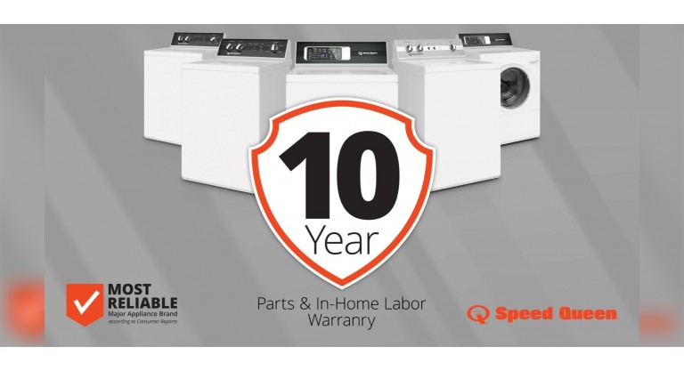 Speed Queen: 10 Year Parts and Labor Warranty