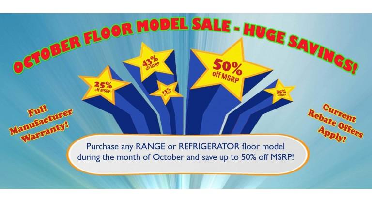 September Floor Model Sale