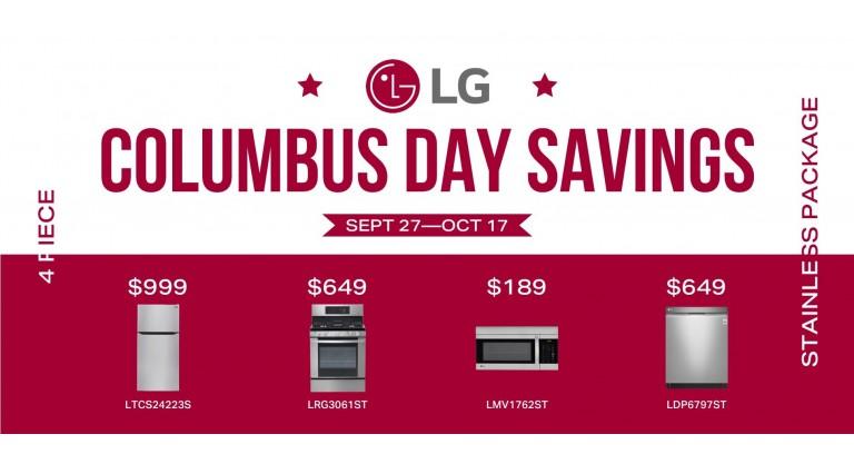 LG Columbus Day Savings