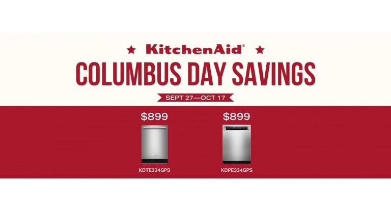 KitchenAid Columbus Day Savings