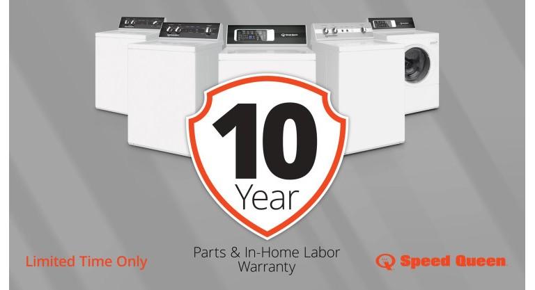 Speed Queen 10 year warranty