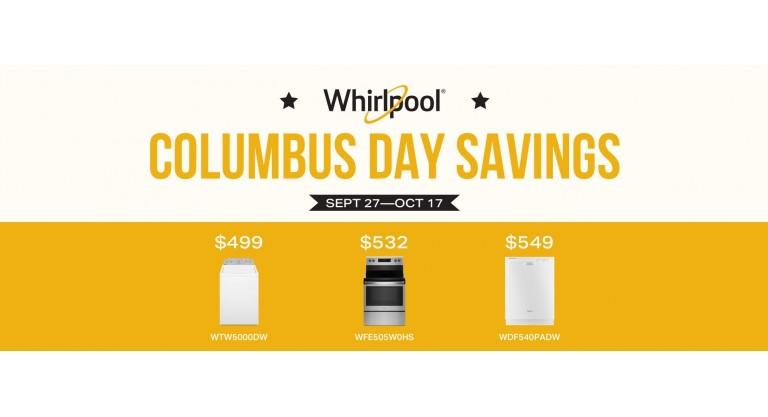 Whirlpool Columbus Day Savings