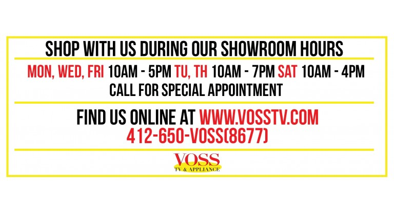 Voss TV: Showroom hours