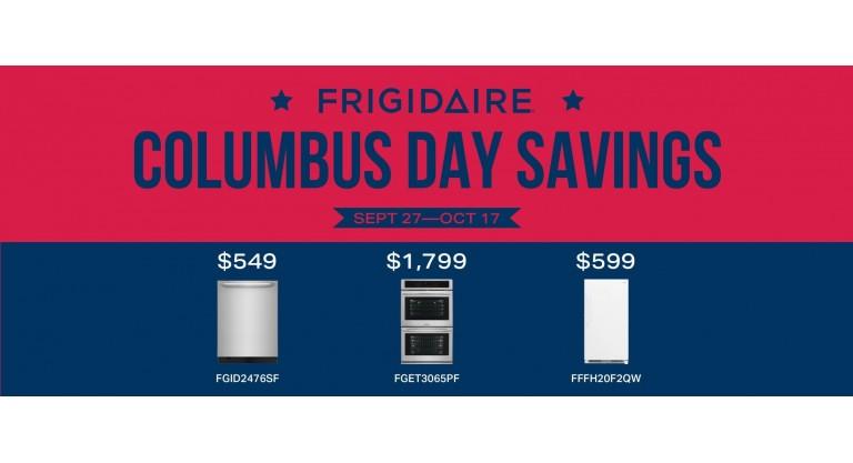 Frigidaire Columbus Day Savings