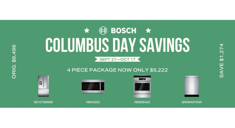 Bosch Columbus Day Savings