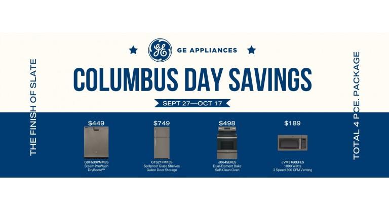 GE Columbus Day Savings