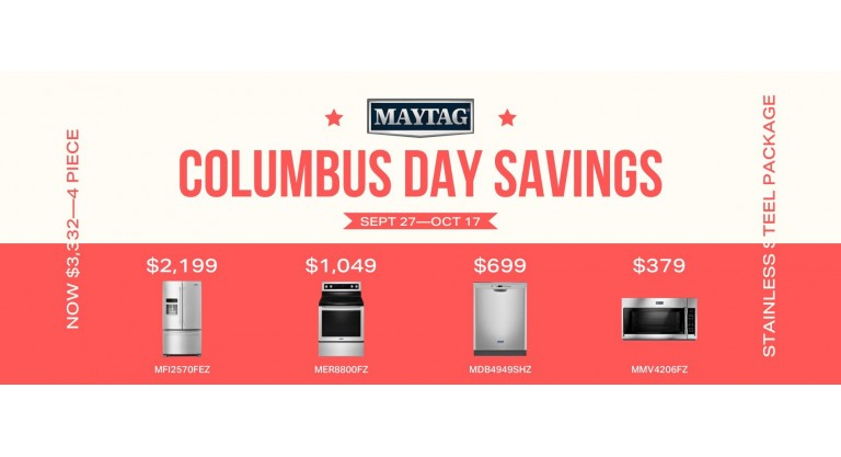 Maytag Columbus Day Savings