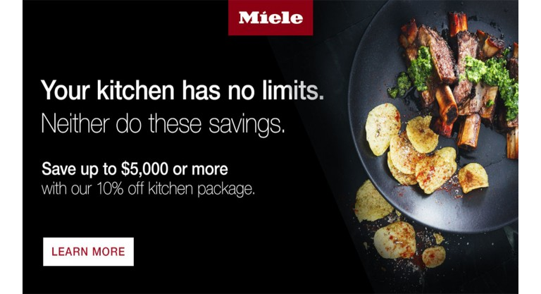 Your kitchen has no limits. Neither do these savings.