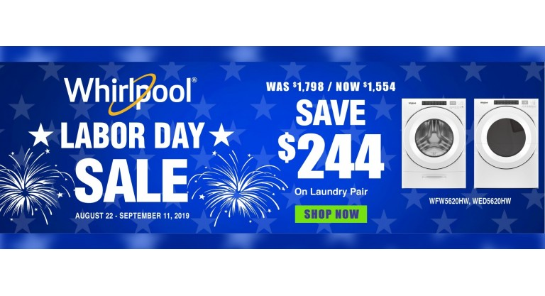 Whirlpool Labor Day Package