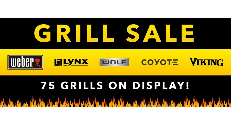 Grill Sale: 75 Grills on Display!