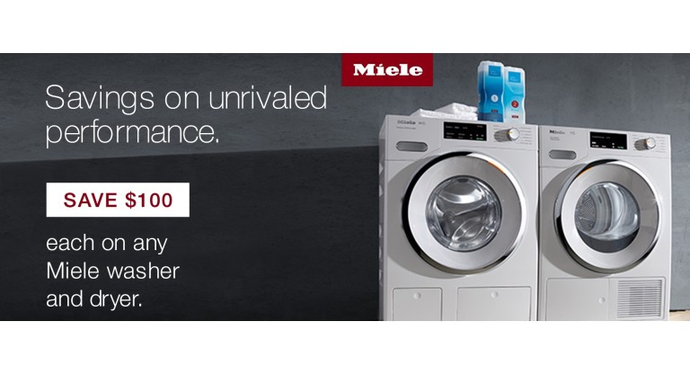 Miele: Save $100 each on any Miele washer and dryer