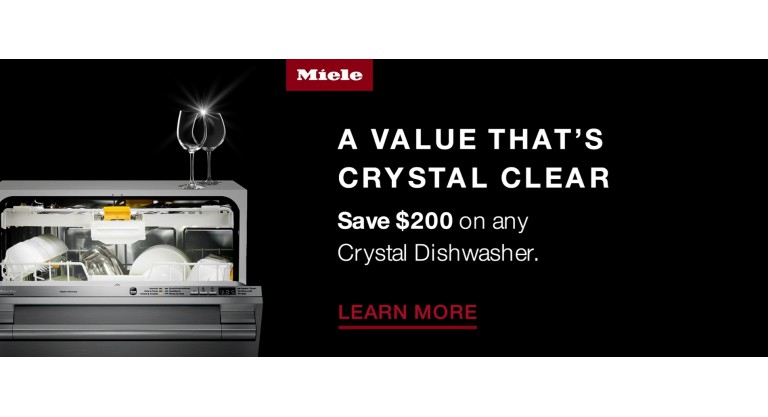 Miele: Save $200 on any Crystal Dishwasher