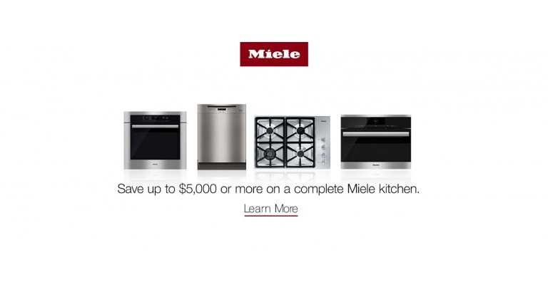 Miele: Save up to $5,000 or more on a complete Miele kitchen
