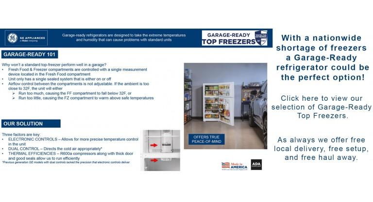 Garage Ready Top Freezers