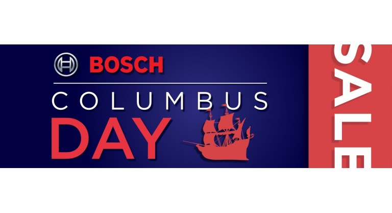 Bosch Columbus Day Promotion