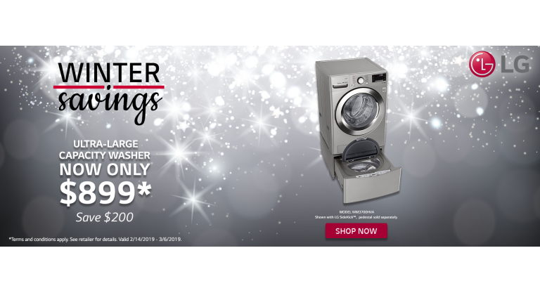 LG Winter Savings Washer