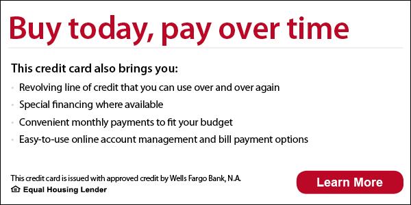 Wells Fargo Financing Banner